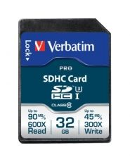 SECURE DIGITAL VERBATIM PRO SDHC U3 32GB 47021