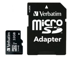MICRO SD VERBATIM PRO MICROSDHC U3 32GB WITH ADAPTER 47041