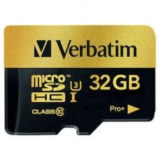 MICRO SD VERBATIM PRO+ MICROSDHC U3 32GB WITH ADAPTER 44033