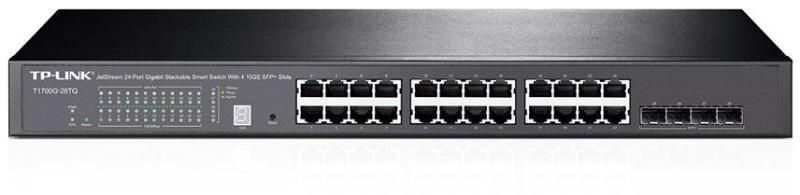 SWITCH TP-LINK T1700G-28TQ JETSTREAM 24-PORT GIGABIT STACKABLE